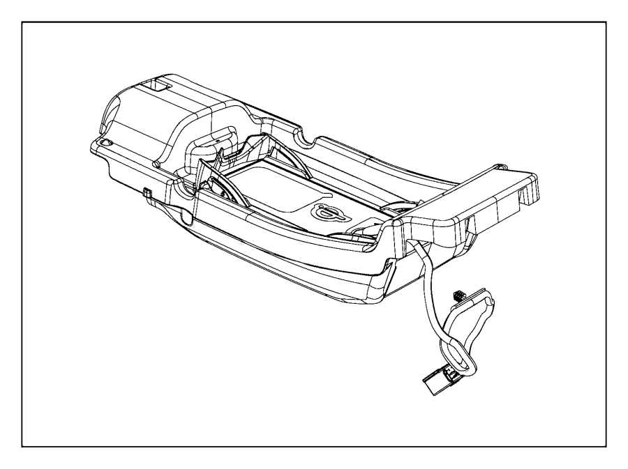 2016 Jeep Cherokee Charger, storage tray. Armrest