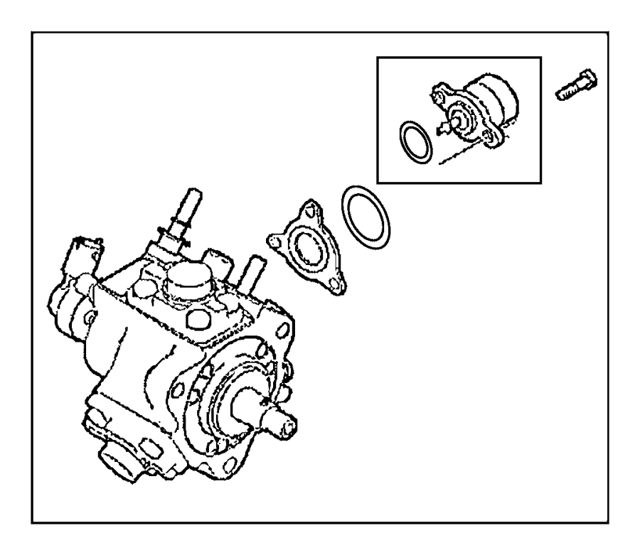 2016 Jeep Cherokee Pump. Fuel injection. Engine, emissions