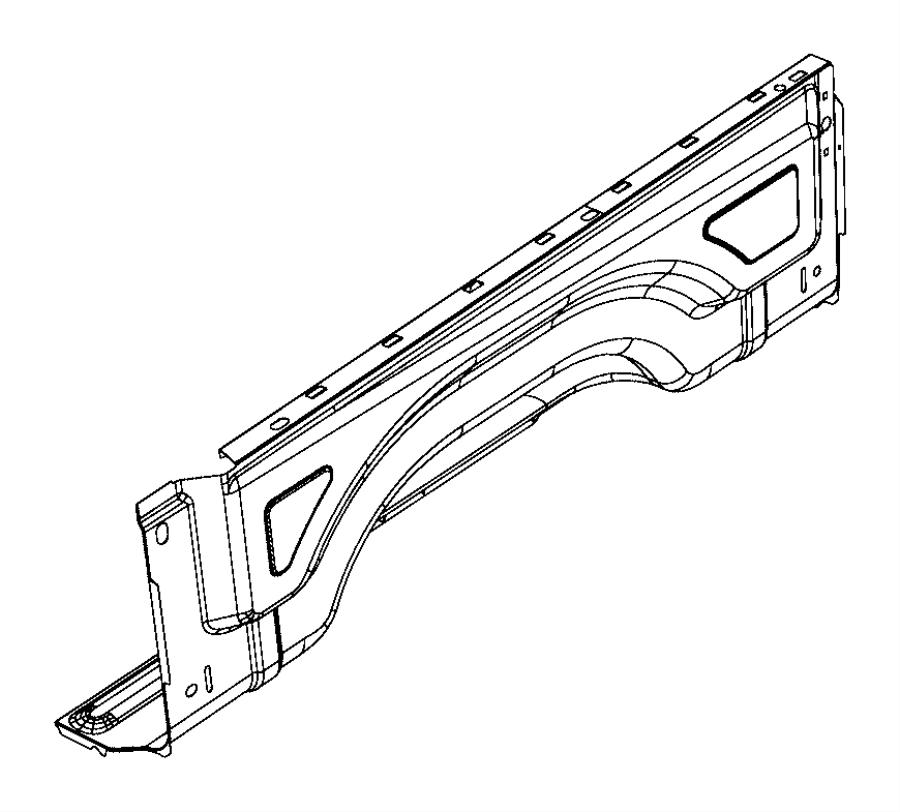 Dodge Ram 1500 Panel. Box side inner. Left. After 01/23