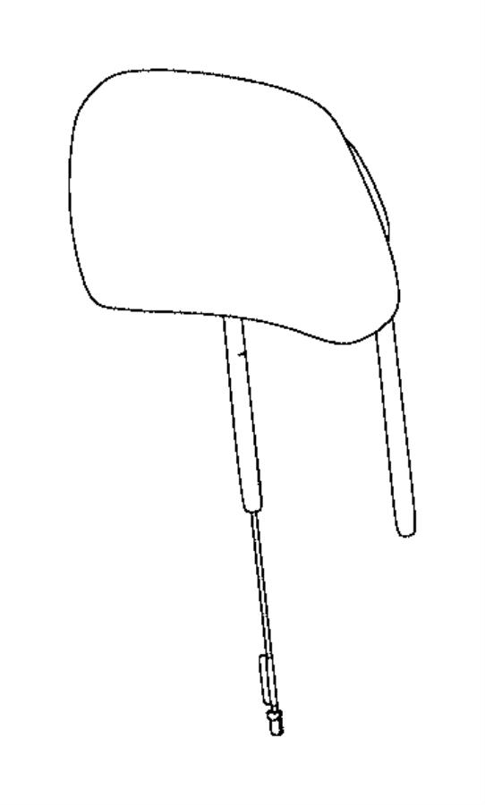 2015 Jeep Grand Cherokee Headrest. Active head restraints