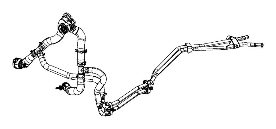 Chrysler Pacifica Hose. Coolant. Transmission outlet