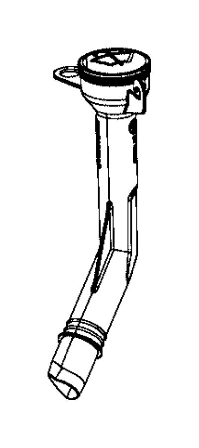 2017 Chrysler PACIFICA L HYBRID Filler neck. Washer