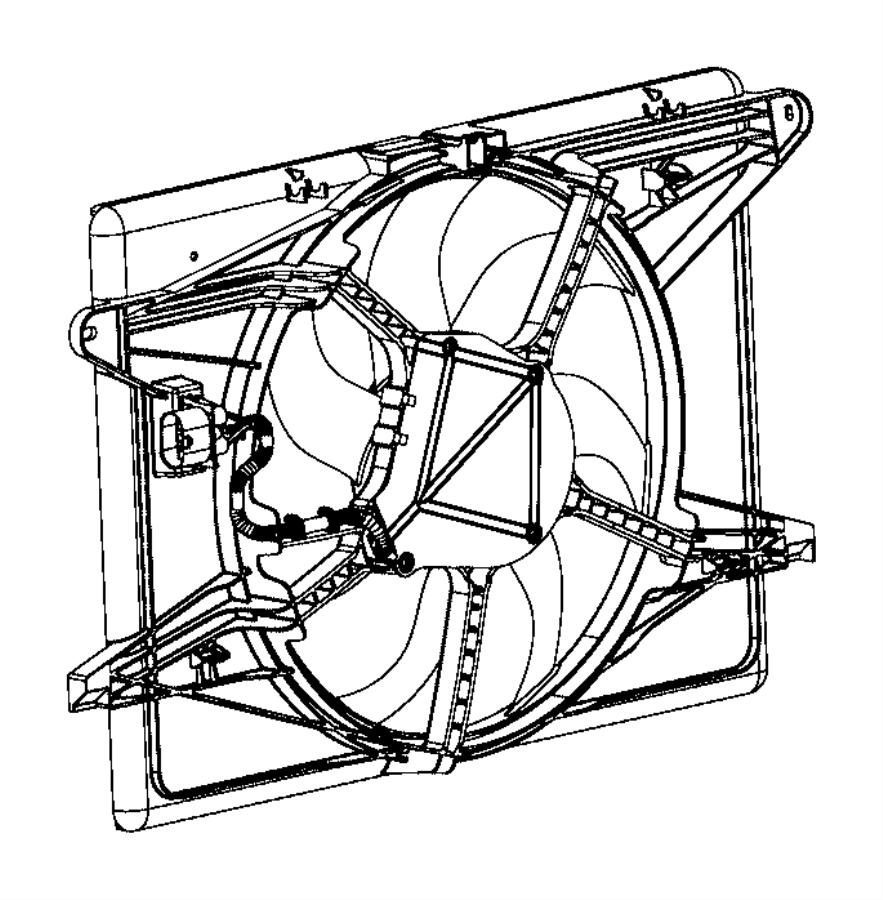 Chrysler Pacifica Module. Fan. [front end parts module