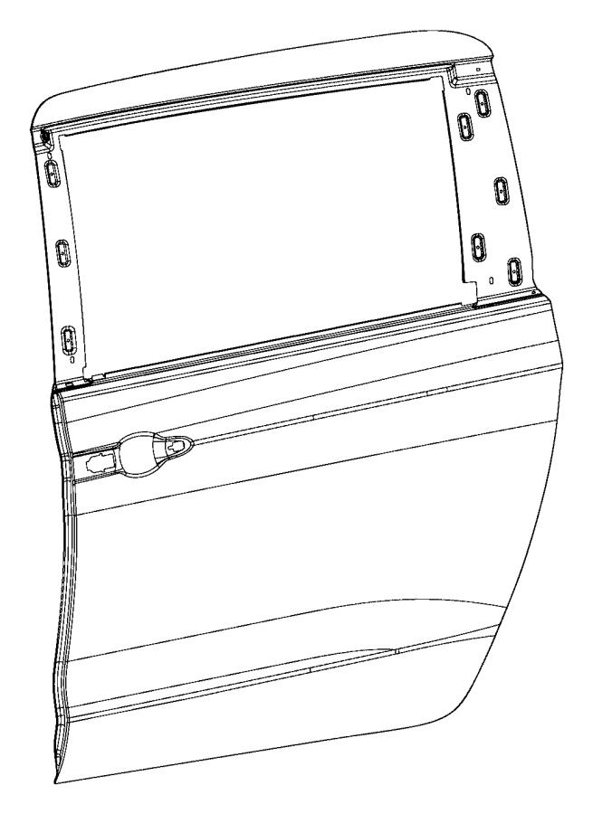 2017 Chrysler Pacifica Panel. Sliding door outer repair