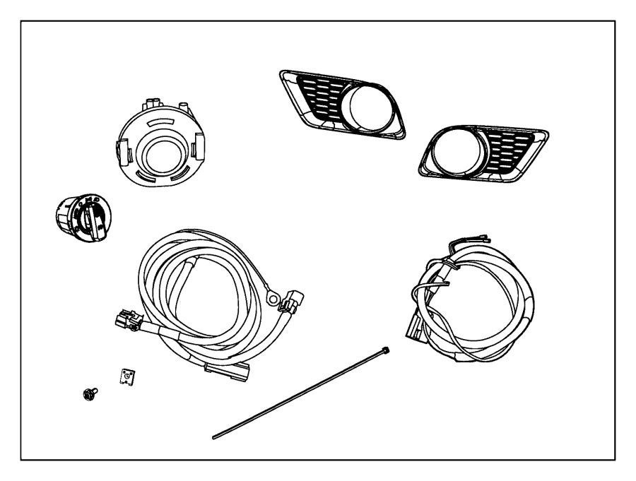 Dodge Charger Bezel. Fog lamp. Left. [automatic headlamps