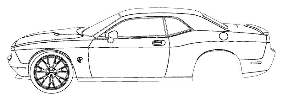 2016 Dodge Challenger Decal. Decklid. [dual carbon stripes