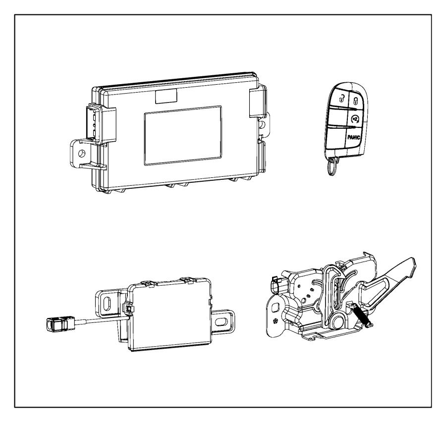 Chrysler 200 Receiver. Hub. Remote, start, system