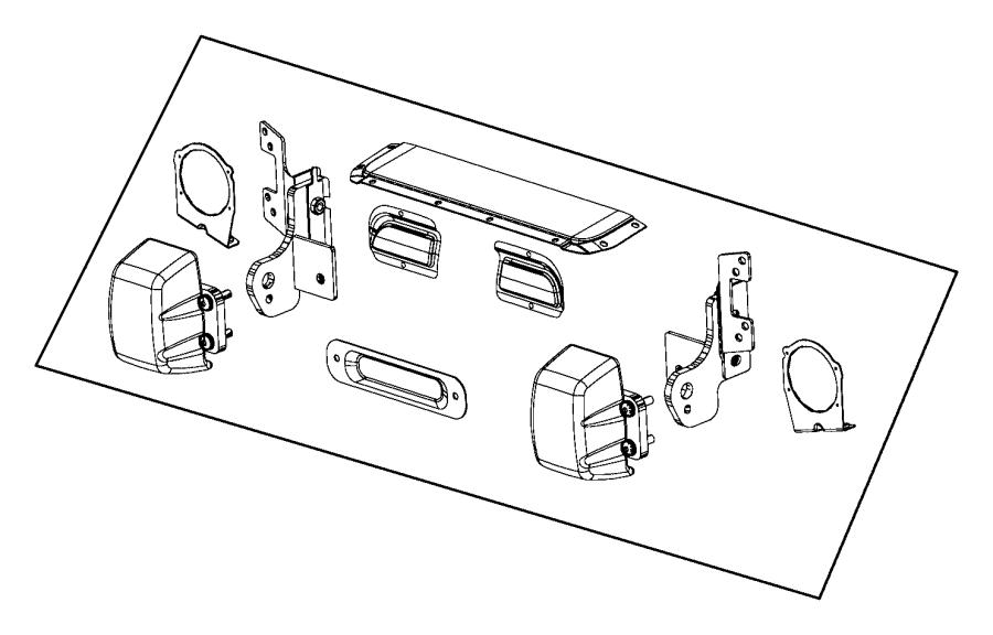 2016 Jeep Wrangler Mounting kit. Front bumper. [mopar