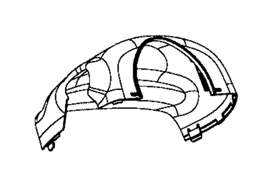 Dodge Viper Shroud. Steering column. Trim: [no description