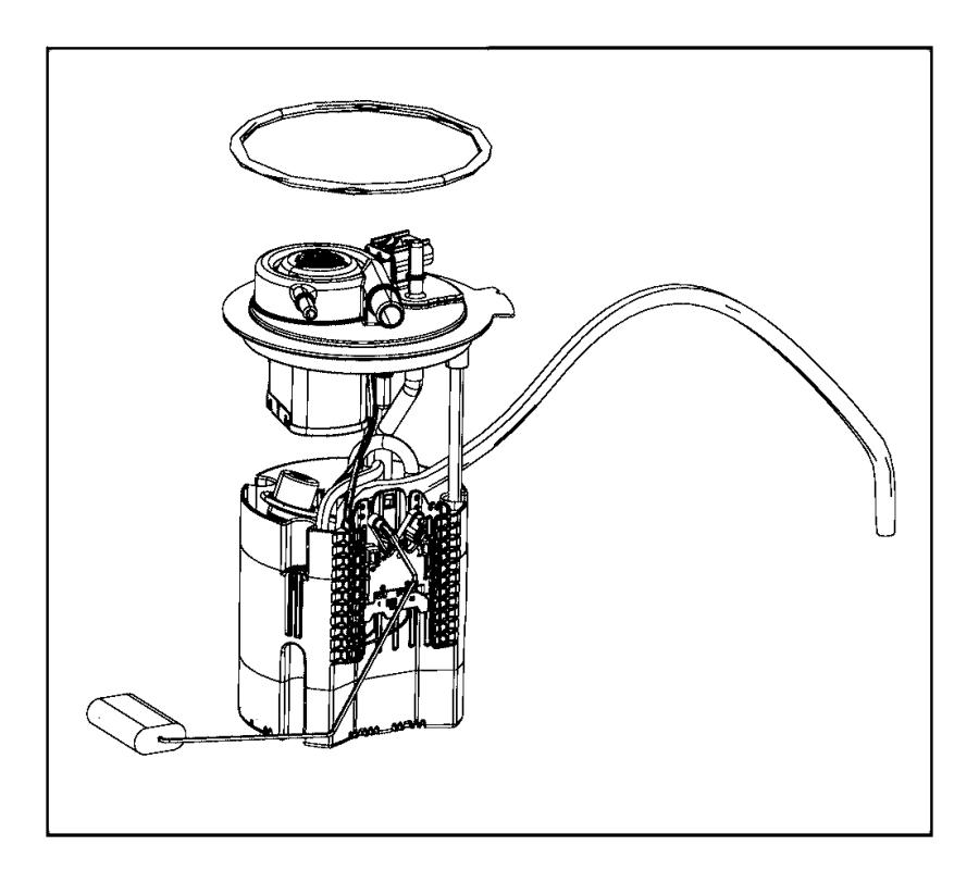 2016 Chrysler 200 Module. Fuel pump/level unit. [15.9