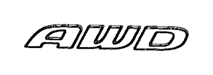 2017 Chrysler 300 Nameplate. Awd. [all wheel drive badge