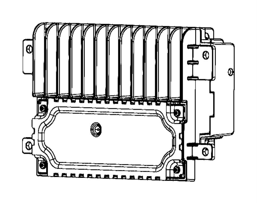 Chrysler Pacifica Radio. Multi media. [instrument panel