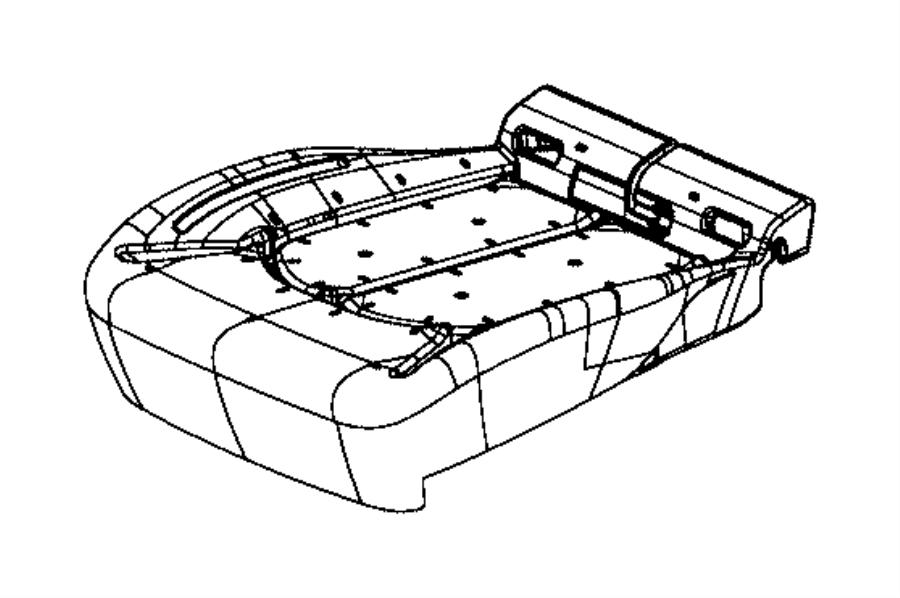 2017 Chrysler PACIFICA L HYBRID Foam. Seat cushion. Mopar