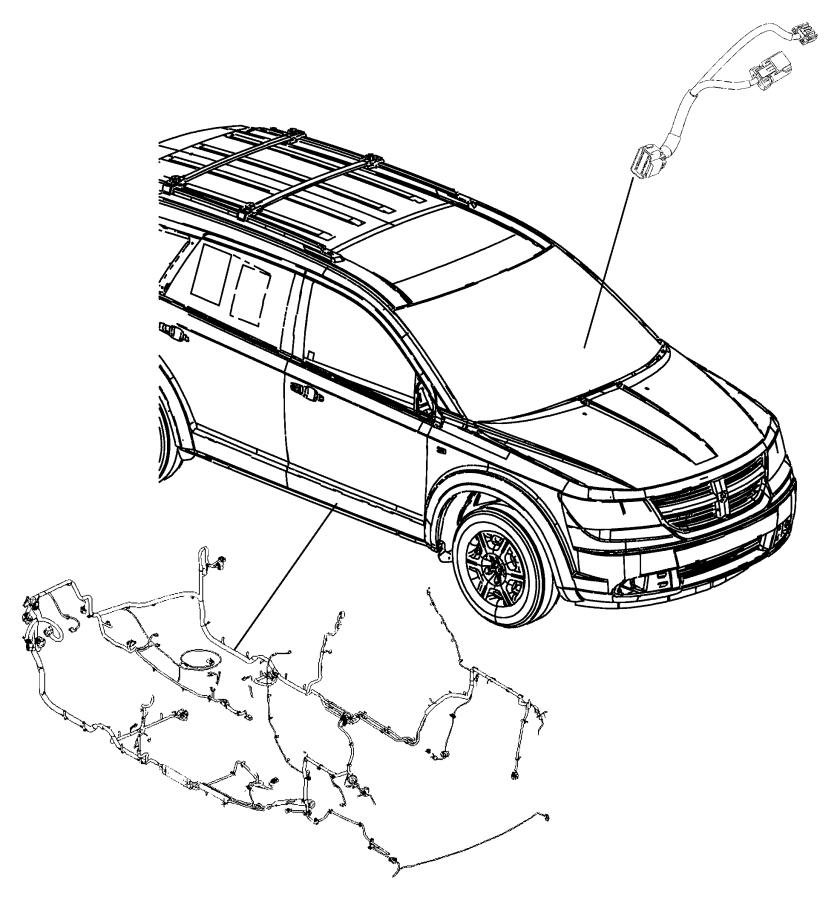 2016 Dodge Journey Wiring. Unified body. Rear, heater