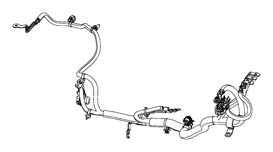 2015 Jeep Cherokee Wiring. Battery positive. Emissions