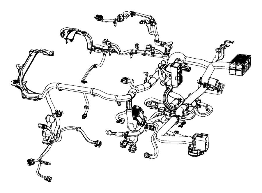 2017 Jeep Cherokee Wiring. Engine. Power, speed, takeoff