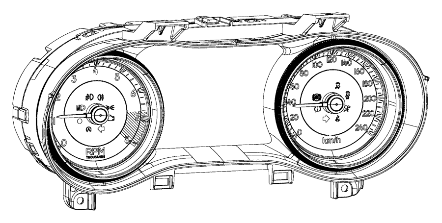 2015 Jeep Cherokee Used for: MASK AND LENS. Instrument