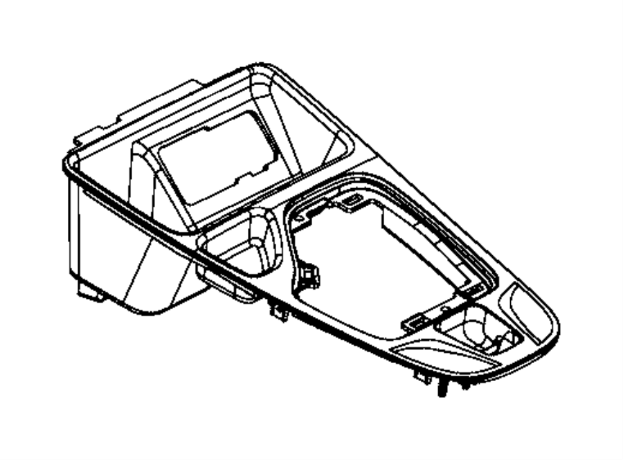 2016 Jeep Cherokee Bezel. Gear shift indicator. Trim: [no