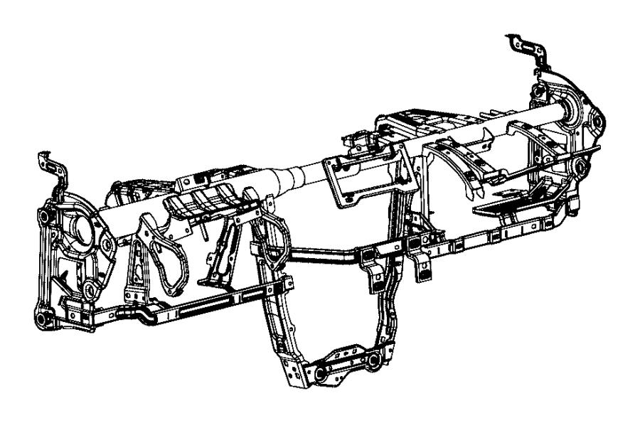 Chrysler 200 Reinforcement. Instrument panel. Mopar