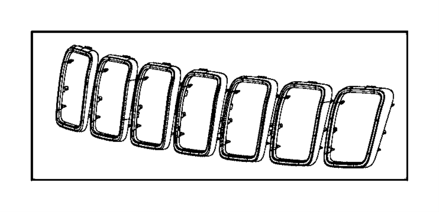 2017 Jeep Grand Cherokee Trim ring kit. Radiator grille