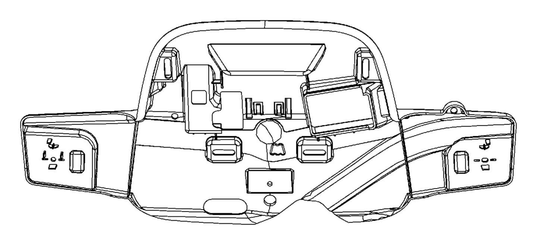 2012 Dodge Durango Retainer. Overhead console. Trim: [all