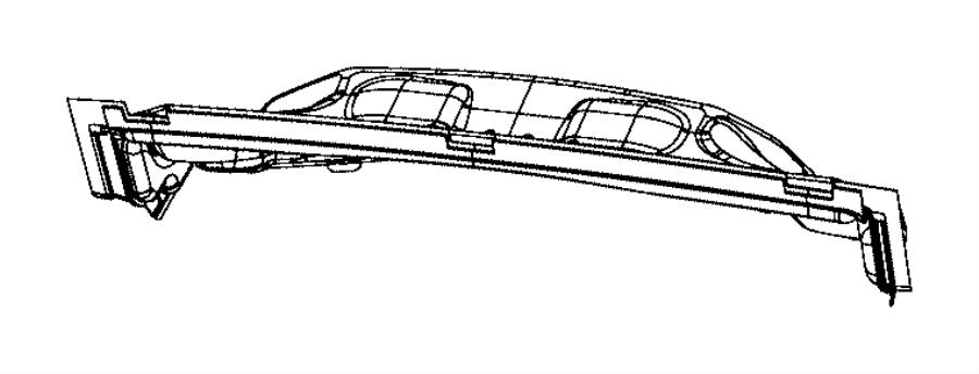 2014 Dodge Durango Silencer. Dash panel-engine compartment