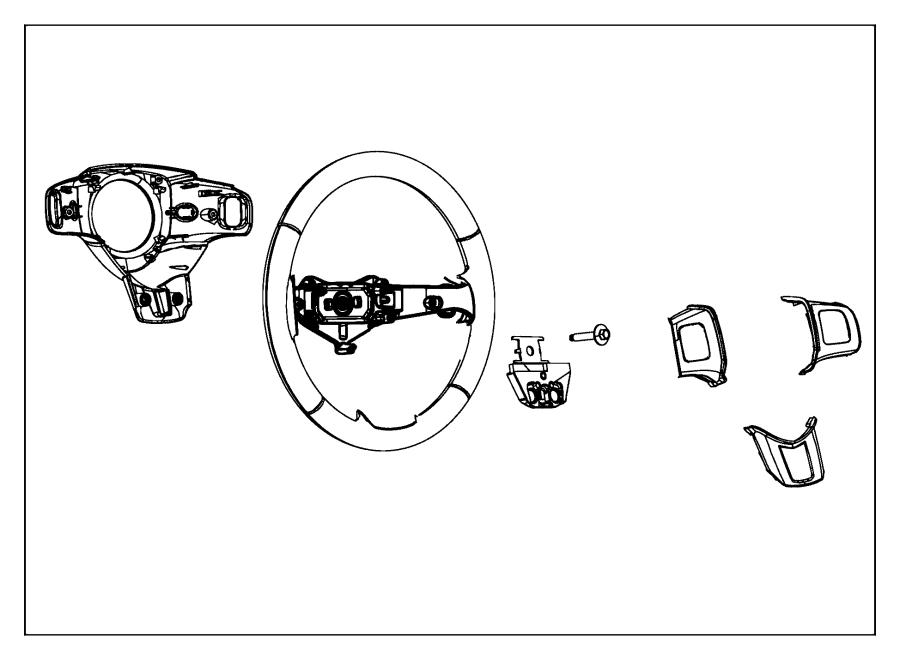 Ram C V Tradesman Wheel Steering Trim No