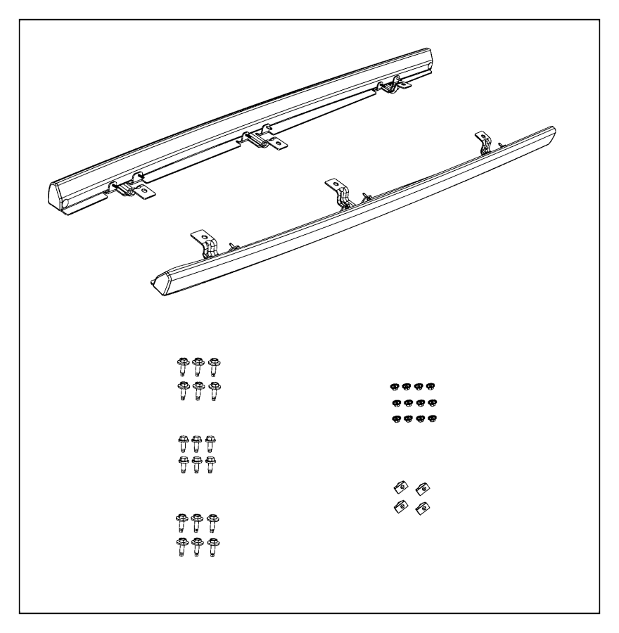Jeep Wrangler Sill. Body side. Right. Component
