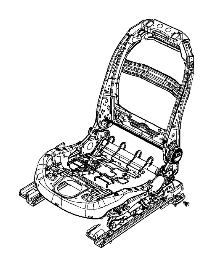 2014 Jeep Cherokee Adjuster. Manual seat. Passenger, riser
