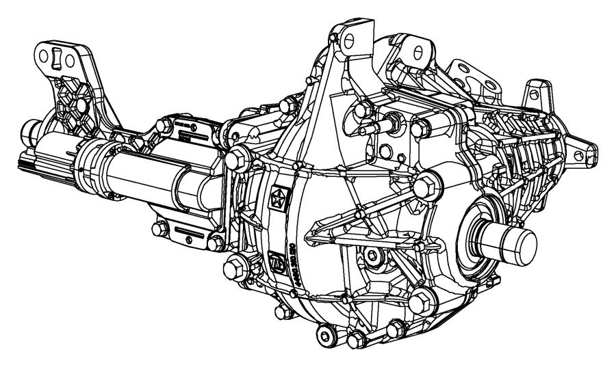 2016 Ram 1500 Axle. Service front. [3.55 rear axle ratio