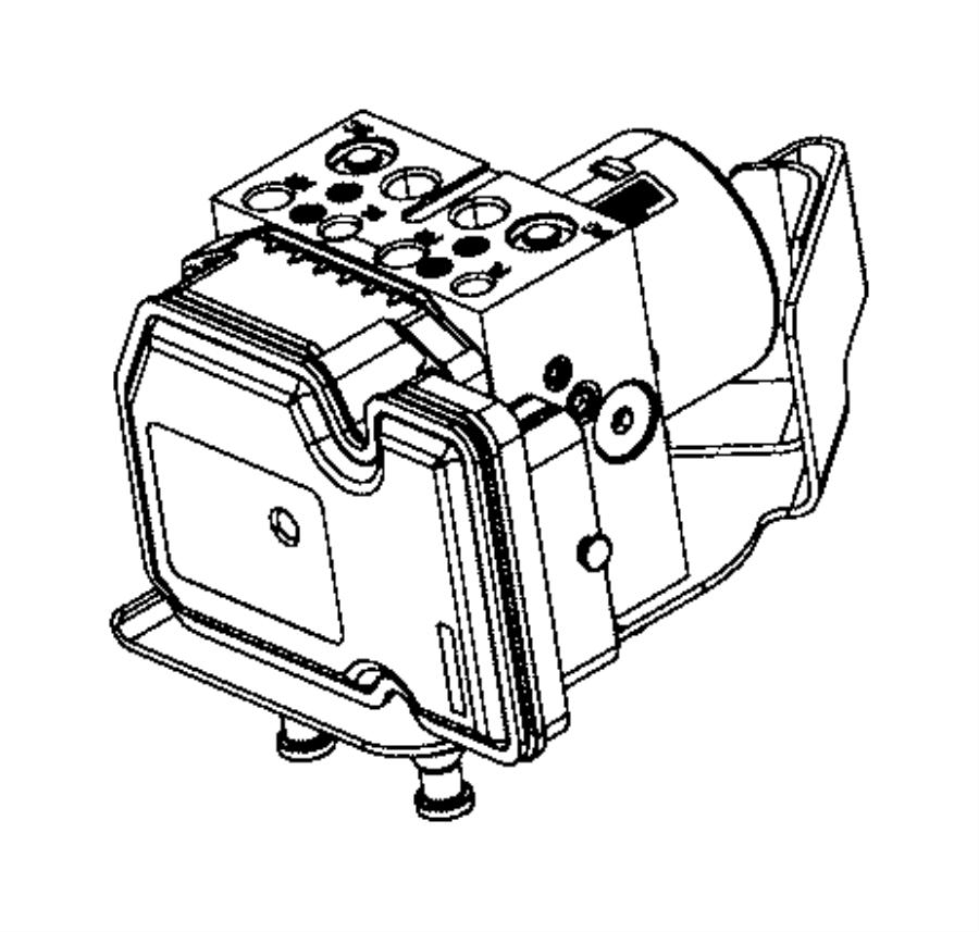 2016 Dodge Durango Module. Anti-lock brake system. [speed