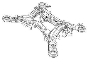 2017 Jeep Grand Cherokee Cradle Rear suspension [rear suspension parts module], [230mm rear