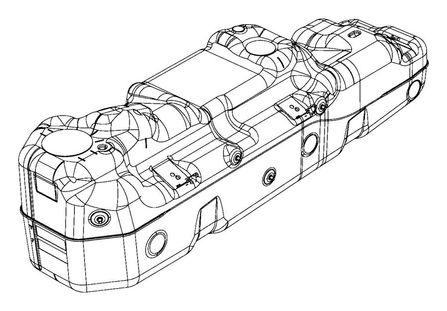 2013 Dodge Ram 1500 Tank. Fuel. [26 gallon fuel tank], [26