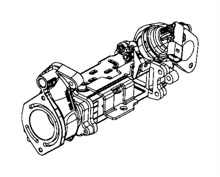 2017 Jeep Grand Cherokee Cooler kit. Egr valve. [na1