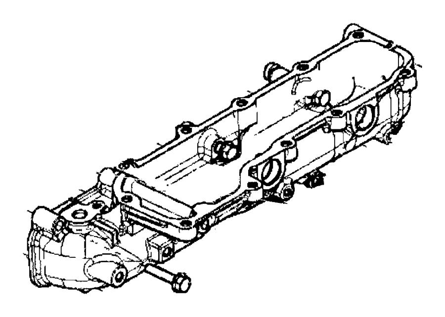 Ram ProMaster Manifold. Intake. Lower. Heater, engine