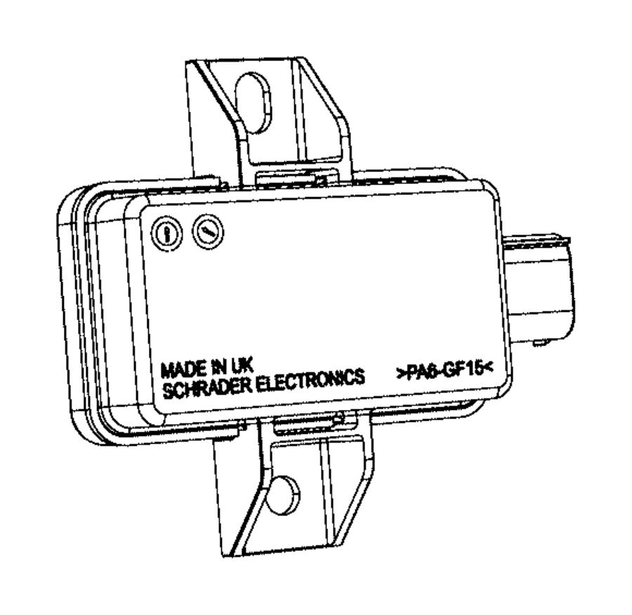 2015 Ram 1500 Module. Tire pressure monitoring. [tire