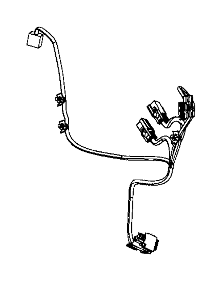 2017 Ram 3500 Wiring. Seat back. Driver side, passenger