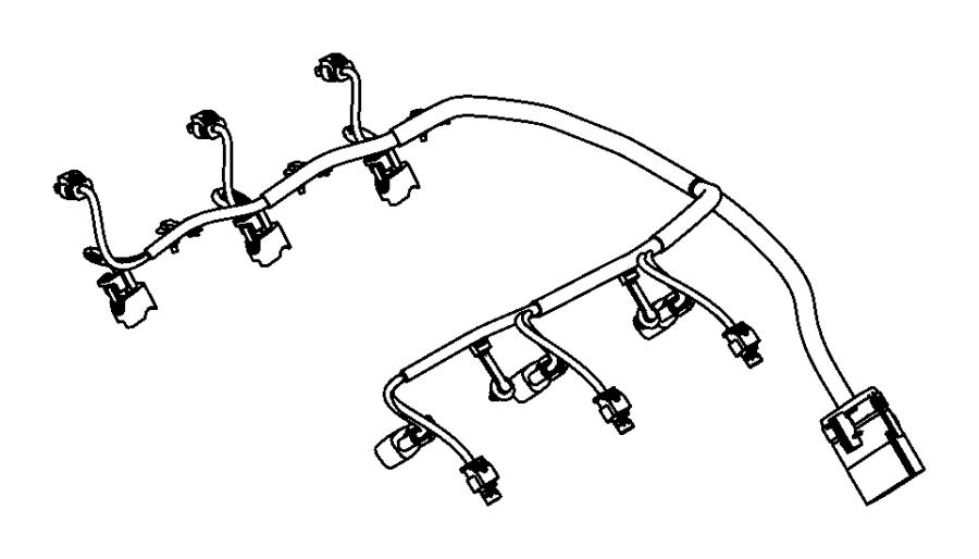 Jeep Grand Cherokee Wiring. Injector. Powertrain, mopar