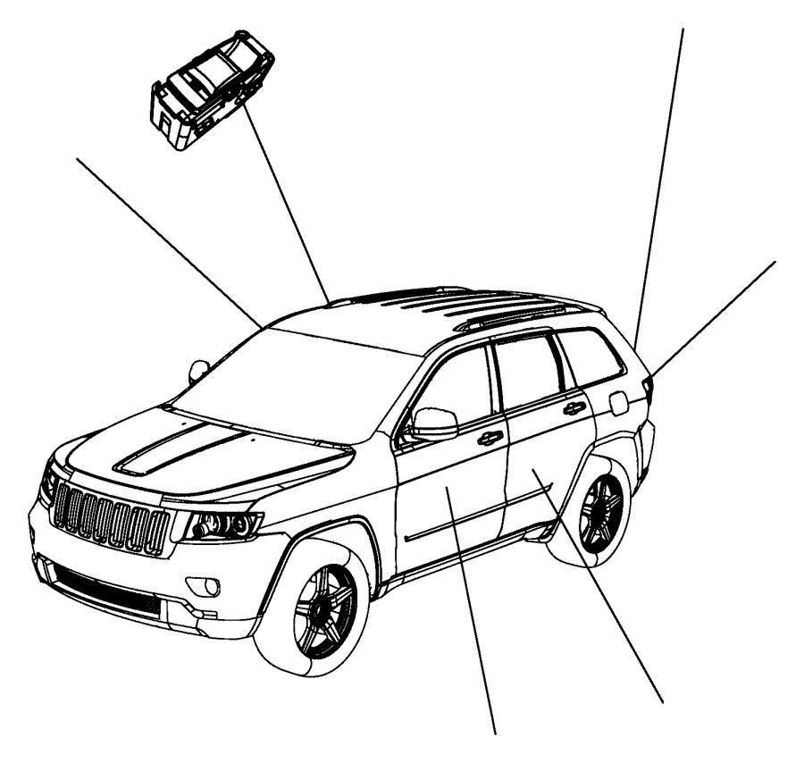 2013 Dodge Durango Switch. Power window. Left, left rear