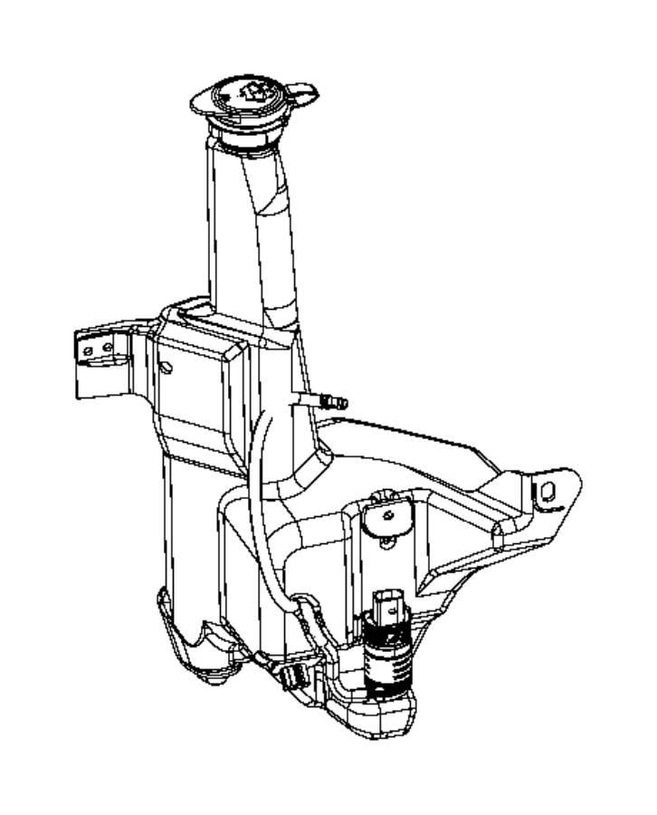 2013 Dodge Ram 2500 Grommet. Windshield washer pump. Front