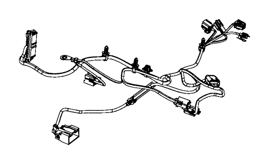 Chrysler Town & Country Wiring. Rear seat. Export, left