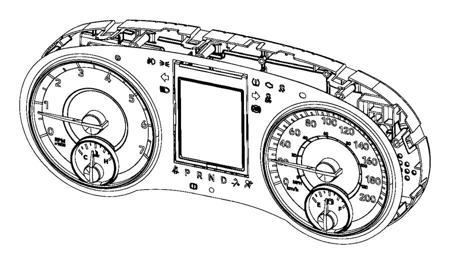 Dodge Grand Caravan Cluster. Instrument panel. Module, mph