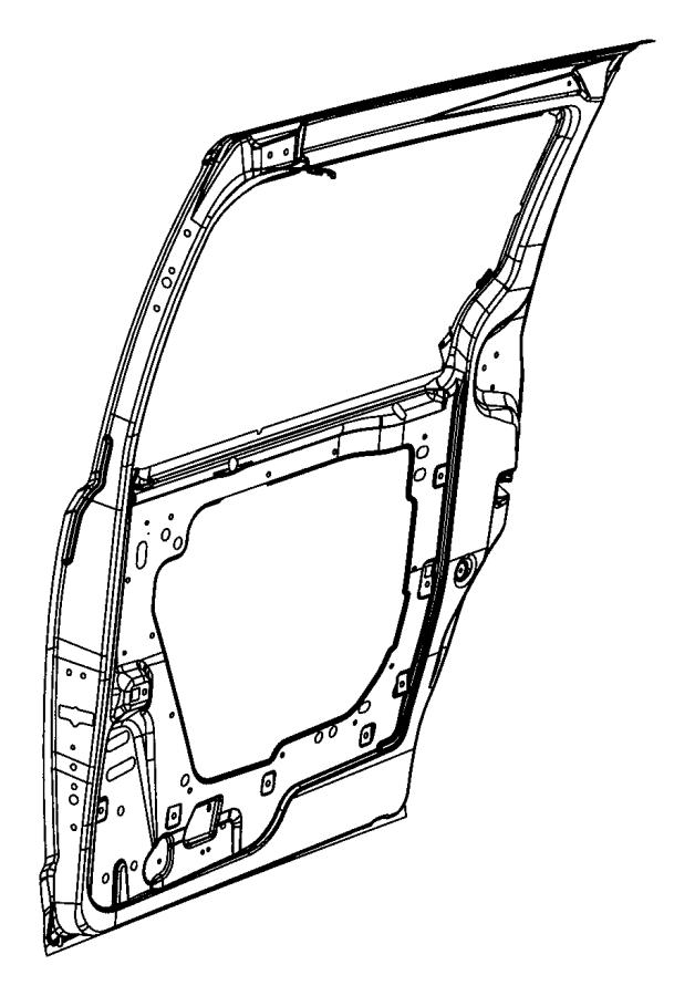 2010 Chrysler Town & Country Panel. Sliding door. Left