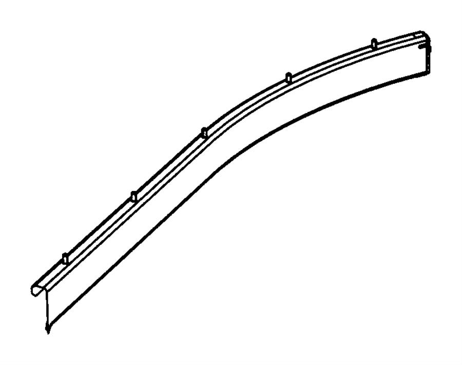 2012 Chrysler Town & Country Track. Sliding door. Right