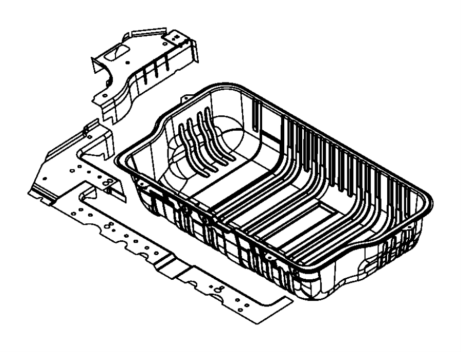 2015 Dodge Grand Caravan Panel. Rear floor pan. Right