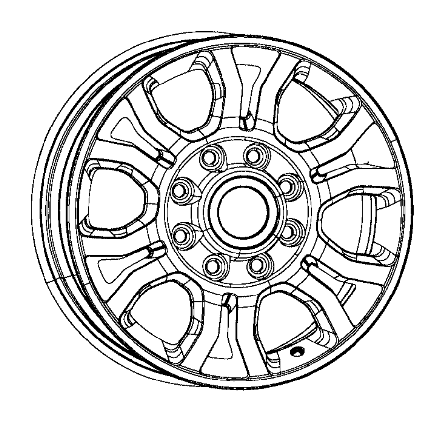 2017 Ram 3500 Wheel. Aluminum. Front or rear. [18x8.0