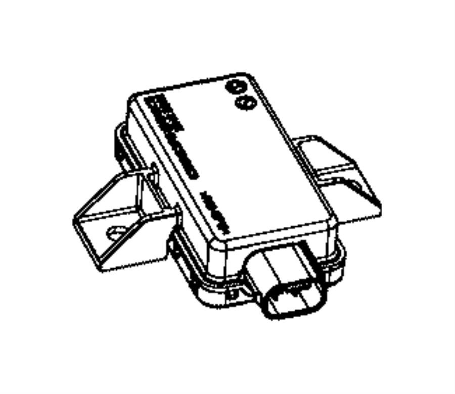 2016 Ram PROMASTER CITY WAGON Module. Tire pressure