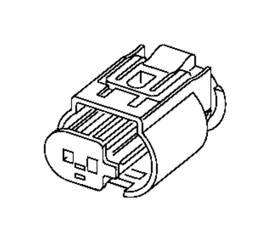 Ram ProMaster City Connector, repair kit. Abs sensor