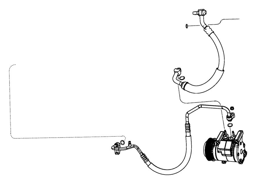2012 Dodge Durango Seal. A/c line, slim line. 1/2. 1/2