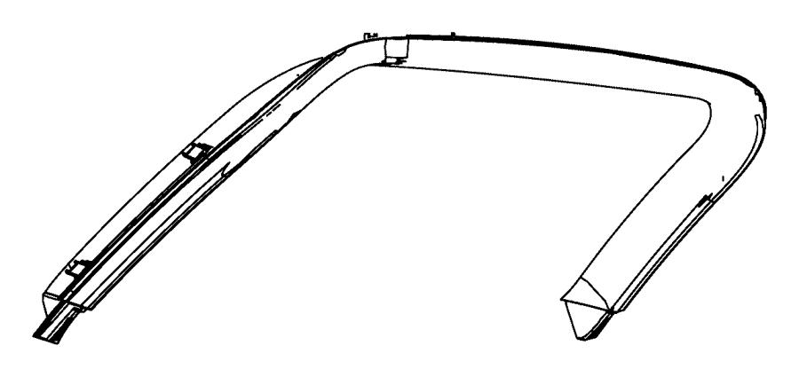 Dodge Durango Panel. Liftgate trim upper. Trim: [all trim
